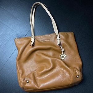 Michael Kors brown grained genuine leather…